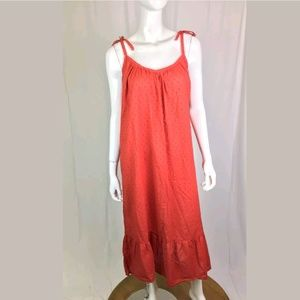 Curation Emerson Fry cotton ruched ruffled dress